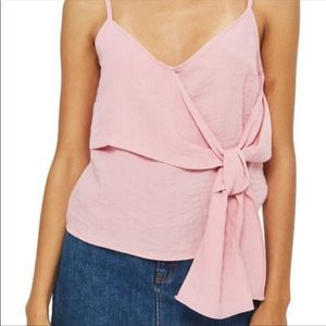 Top Shop Chrissie tie front camisole /10